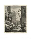 Beer Street Giclée-tryk af William Hogarth
