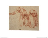A Child Being Taught to Walk Giclee Print by  Rembrandt van Rijn