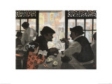 Chatting over Tea Giclee Print by Wu Jide