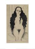 Nude with Long Hair (Dolores Olmedo), 1930 Lámina giclée por Rivera, Diego