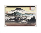 Evening Bell at Mii Temple Giclee Print by Ando Hiroshige