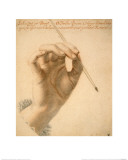 Right Hand of Artemisia Gentileschi Holding a Brush Giclee Print by Pierre Dumonstier II