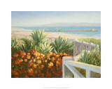 The Blue Pacific, Santa Monica, California Premium Giclee Print by Michael G. Miller