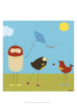 Sunny Day Birds I Poster von Erica J. Vess