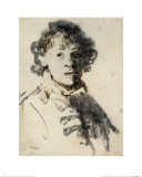 Self-Portrait with Mouth Open Giclee Print by  Rembrandt van Rijn