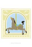 Horse Carousel Poster von Erica J. Vess