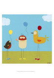 Sunny Day Birds II Prints by Erica J. Vess