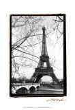 Eiffel Tower Along the Seine River Art by Laura Denardo