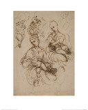 Studies of the Virgin and Child Impression giclée par  Raphael