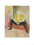 La Clownesse Assise(Mademoiselle Cha-U-Ka-O)  1896 Lámina giclée por Henri de Toulouse-Lautrec