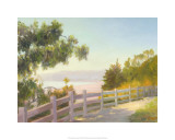 View of Malibu, Santa Monica, California Premium Giclee Print by Michael G. Miller
