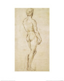 Michelangelo's David Reproduction procédé giclée par  Raphael