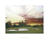 Sundown at Winged Foot's 10th Premium Giclee Print by Michael G. Miller