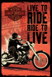 Harley Davidson - Live to Ride Affiches