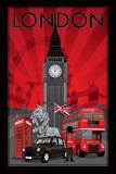 Londres, símbolos de la ciudad Pósters