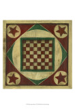 Small Antique Checkers Art by Ethan Harper