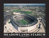 New York Giants at New Meadowlands Stadium Poster by Mike Smith
