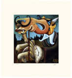 Coyote Portrait of Dali Limited Edition by Markus Pierson