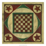 Antique Checkers Giclee Print by Ethan Harper