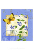 Butterfly Meadow III Prints by Jane Maday