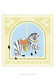 Zebra Carousel Poster by Erica J. Vess