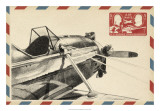 Vintage Airmail I 高品質プリント : イーサン・ハーパー