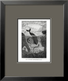 "Cover Illustration from ""20,000 Leagues under the Sea"" by Jules Verne (1828-1905) Framed Giclee Print by Édouard Riou"