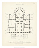 Plan for a Mansion Giclee Print by J. Wilkes