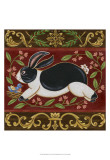 Folk Rabbit I Print
