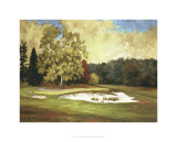 After the Rain at Merion Premium Giclee Print by Michael G. Miller
