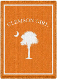 Clemson Girl Throw Blanket