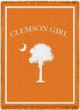 Clemson Girl Throw Blanket