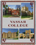 Vassar College, Collage Throw Blanket