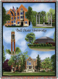 Ball State University, Collage Throw Blanket