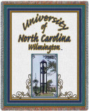 University of North Carolina, Wilmington Clock Tower Throw Blanket