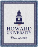 Howard University, 2008 Throw Blanket