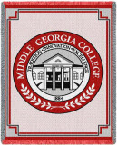 Middle Georgia College, Seal Throw Blanket