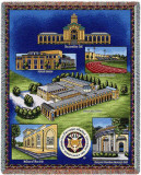 Carnegie Mellon University, Collage Throw Blanket