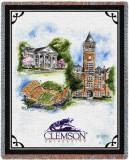 Clemson University, Collage Throw Blanket
