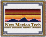 New Mexico Tech University, Wordmark Throw Blanket