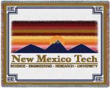 New Mexico Tech University, Wordmark Throw Blanket