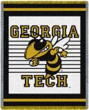 Georgia Tech, Logo Throw Blanket