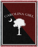 Carolina Girl Garnet Throw Blanket