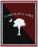 Carolina Girl Garnet Throw Blanket
