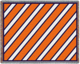 Spirit: Orange and White and Blue Throw Blanket