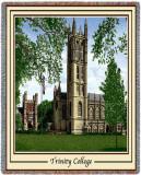 Trinity College, Chapel Throw Blanket