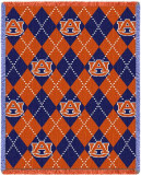 Auburn University, Plaid Throw Blanket