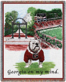 University of Georgia, On My Mind Throw Blanket