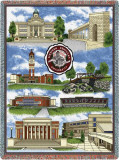 Western Kentucky University, Collage Throw Blanket