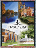 Huntington University, Collage Throw Blanket